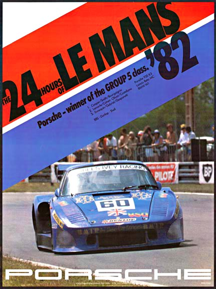 The 24 Hours of Le Mans '82 Porsche winner of the Group 5 Class, Erich Strenger