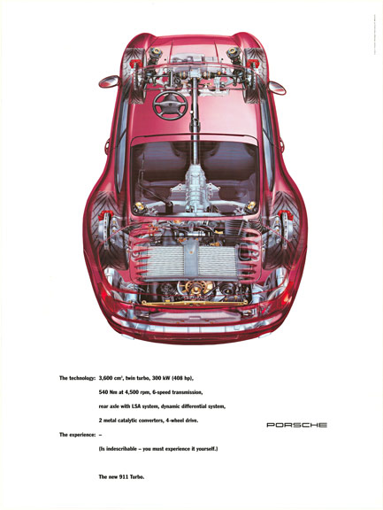 Anonymous Artists - The New 911 Turbo Porsche (cutaway) border=