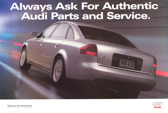Anonymous Artists - Always Ask For Authentic Audi Parts and Service border=