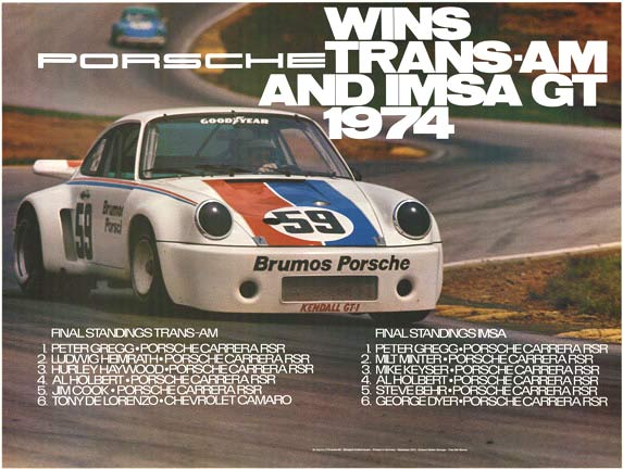 Porsche Wins Trans-Am And IMSA GT 1974, Erich Strenger