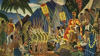 Title: Matison Lines Hawaii- Pomp and Circumstance , Date: 1954 , Size: 20.5