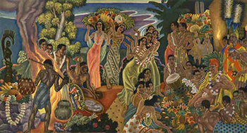 Title: Matison Lines Hawaii - Island Feast , Date: 1950 , Size: 12