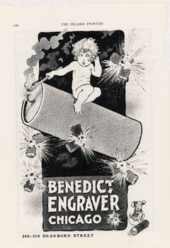 Title: Benedict Engraver Chicago , Date: 1899 , Size: 11 x 14 , Medium: Stone-Lithograph , Price: $99