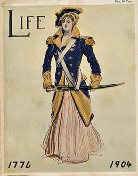 Title: Life 1776-1904 cover , Date: 1904 , Size: 8.5 x 11 , Medium: letter press , Price: $45