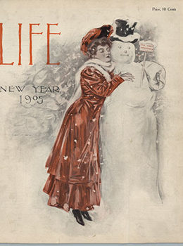 Title: Life-New Year-1905 , Date: 1-1-1905 , Size: 9X11 , Medium: letter press , Price: $50