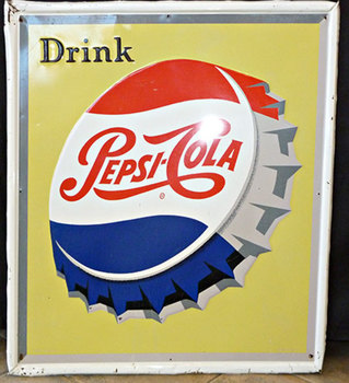 Title: Pepsi , Size: 26.5 x 30 , Medium: metal , Price: $1,795