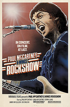 Title: PAUL McCARTNEY + WINGS Rock show , Date: 1980 , Size: 27 x 41 inches , Medium: Lithograph , Price: $325