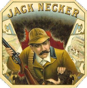 Title: Jack Necker cigar box label , Size: 4.5 x 4.5