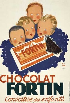 Title: Chocolat Fortin , Date: 1934 , Size: 38 x 54