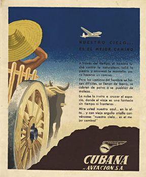 Title: Cubana Aviacion S. A. , Size: 11 x 13 , Medium: Lithograph , Price: $275