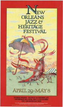 Title: New Orleans Jazz & Heritage Festival , Date: 1983 , Size: 18 x 30 , Medium: Offset-Lithograph , Price: $350