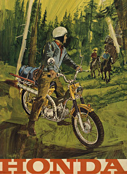 Title: Honda Motorycle , Size: 39 x 53 , Medium: Offset-Lithograph , Price: $2,750