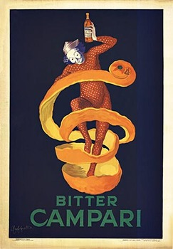 Title: Bitter Campari , Date: 1921 , Size: 27.25 x 39.25 , Medium: Stone-Lithograph , Price: $8,500
