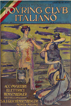 Title: Accumulatori - Touring Club Italiano , Date: 1915 , Size: 6.5 x 9.5