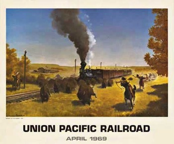 Title: Union Pacific Railroad , Date: 1969 , Size: 18.75 x 14.25 , Medium: Offset-Lithograph , Price: $129