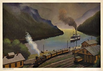 Title: Union Pacific Railroad , Size: 18.5 x 12 3/8 , Medium: Offset-Lithograph , Price: $129