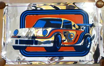 Title: Martini & Rossi Porsche Turbolader , Date: 1976 , Medium: foil , Price: $450