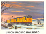Title: Union Pacific Railroad , Size: 18.75 x 15 , Medium: Offset-Lithograph , Price: $175
