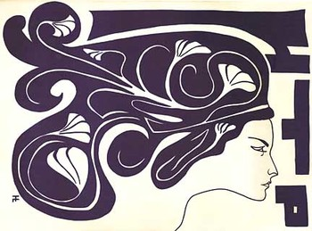 Title: HTP - Horizontal Purple face , Medium: Lithograph , Price: $675