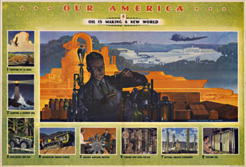 Title: Our America  Oil #4 , Date: 1943 , Size: 32 x 22 , Medium: Offset-Lithograph , Price: $150