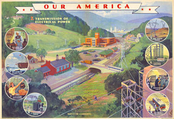 Title: Our America Electricity # 2 , Date: 1943 , Size: 31.75