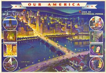 Title: Our America Electricity # 3 , Date: 1943 , Size: 31.75