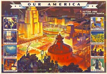 Title: Our America Electricity # 4 , Date: 1943 , Size: 31.75
