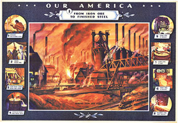Title: Our America Steel #1 , Date: 1943 , Size: 32