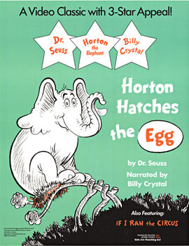 Title: Horton Hatches the Egg , Date: 1991 , Size: 17 x 22 , Medium: Offset-Lithograph , Price: $29