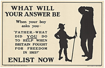 Title: What Will Your Answer Be , Date: 1915 , Size: 29.75 x 19.25 , Medium: Lithograph , Price: $1,250