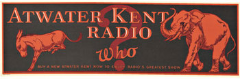 Title: Atwater Kent Radio Who , Date: c. 1925 , Size: 8.75 x 27.75 , Medium: Lithograph , Price: $525