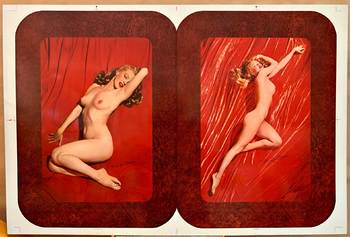 Title: Marilyn Monroe Golden Dreams , Date: c. 1950's , Size: 20 x 30.25 , Medium: lithograph on metal , Price: $1,350