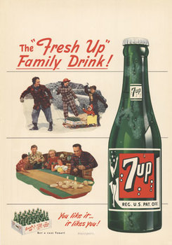 Title: 7 UP The Fresh UP , Date: 1949 , Size: 13.25