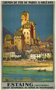 Title: ESTAING (France) , Date: 1929 , Size: 24.5 X 39