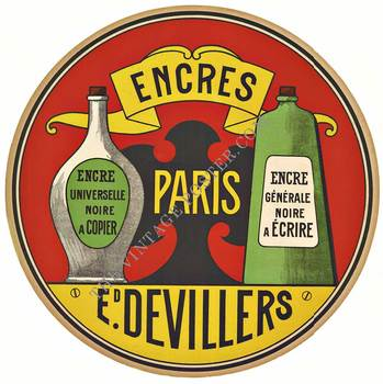 Title: ENCRES PARIS DEVILLERS , Size: 17.25 X 17.25 , Medium: Lithograph , Price: $275