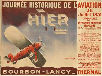 Title: Journee Historique de L' Aviation , Date: 1931 , Size: 46 x 61