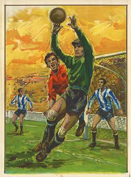 Title: SOCCER Goalie (European Football) , Date: 1963 , Size: 32 3/8