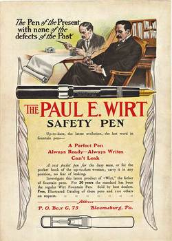 Title: PAUL E. WIRT SAFETY PEN , Size: 10