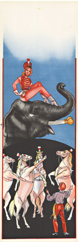 Title: Circus - Girl on Elephant & Horses , Size: 14