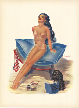 Title: The Sun the Way to Health Pin-up , Date: c. 1950 , Size: 12 3/8