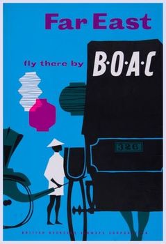Title: FAR EAST FLY BOAC , Date: 1957 , Size: 24.75