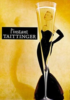 Title: Taittinger Black Box Champagne , Size: 46 x 65 , Medium: Offset-Lithograph