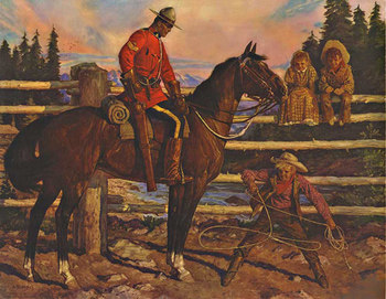 Title: Canadian Mounty - RCMP , Date: c. 1948 , Size: 23
