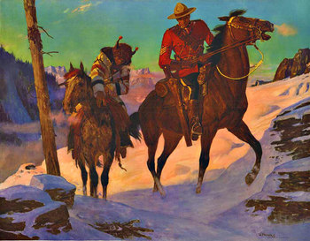 Title: Royal Canadian Mounted Police , Date: c. 1948 , Size: 23