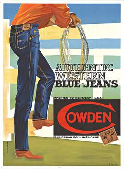Title: COWDEN BLUEJEANS , Date: c. 1950- 60's , Size: 46