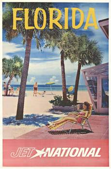 Title: FLORIDA JET NATIONAL AIRLINES , Date: C. 1960'S , Size: 28.25
