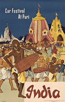 Title: INDIA Car Festival at Puri , Date: c. 1958 , Size: 25