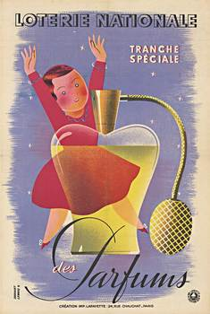 Title: LOTERIE NATIONALE des PARFUMS , Date: 1939 , Size: 16