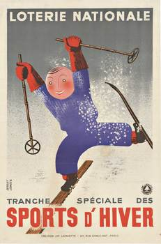 Title: LOTERIE NATIONALE SPORTS D'HIVER , Date: 1938 , Size: 16