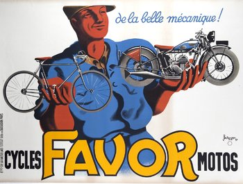 Title: CYCLES FAVOR MOTOS , Date: 1937 , Size: 63